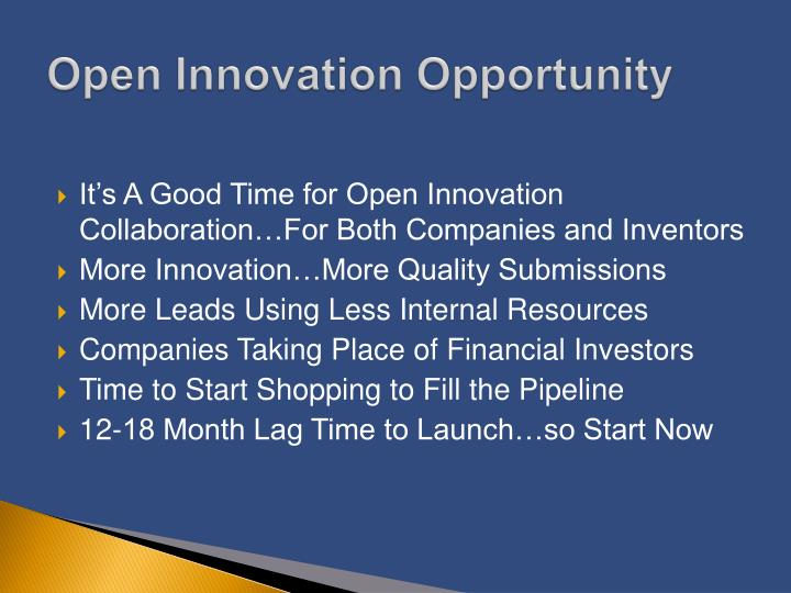 Open Innovation Opportunity