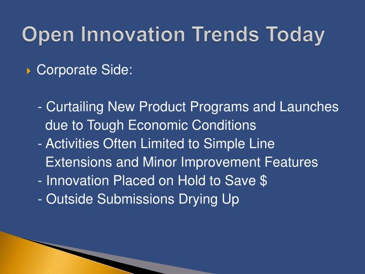 Open Innovation Trends Today