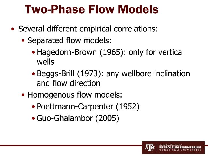 two phase flow correlation