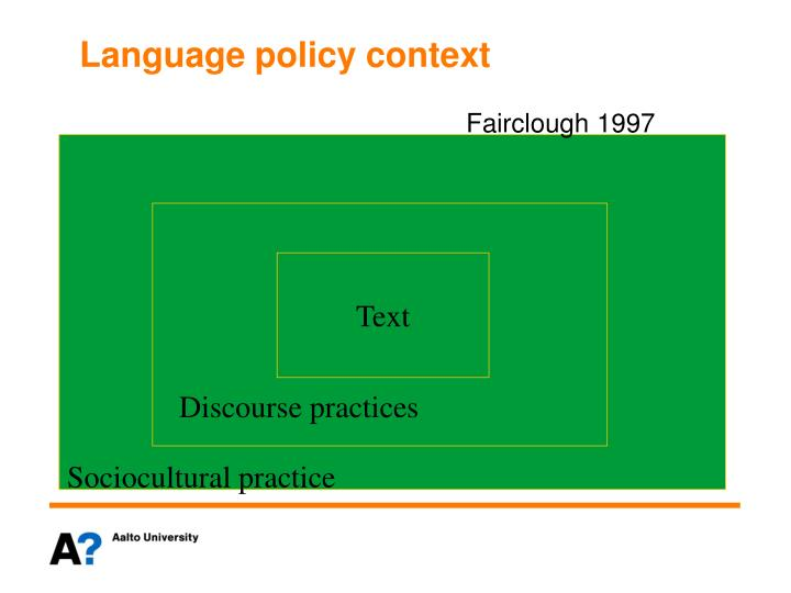 Language policy context