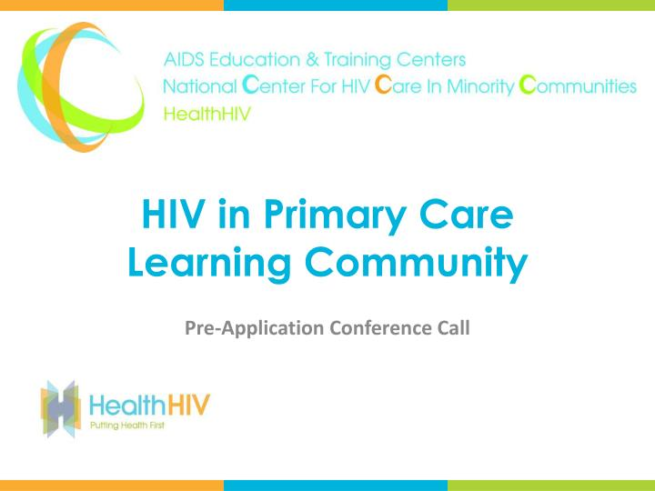 hiv in primary care learning community n.