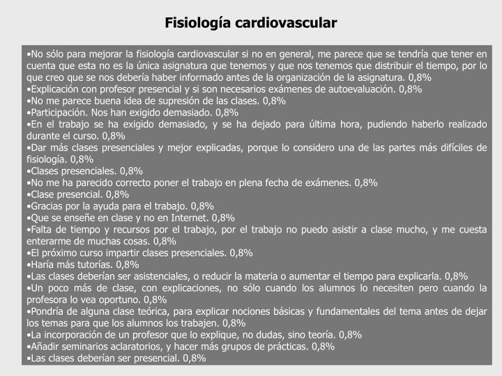 Fisiología cardiovascular