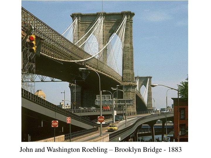 John and Washington Roebling – Brooklyn Bridge - 1883