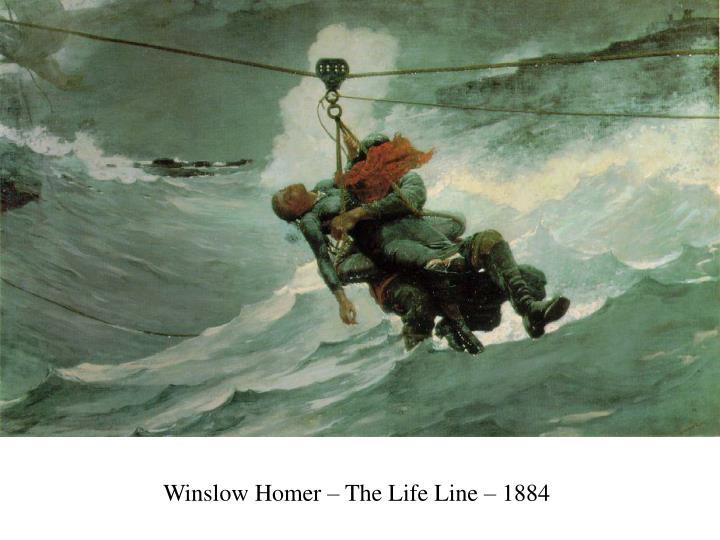 Winslow Homer – The Life Line – 1884