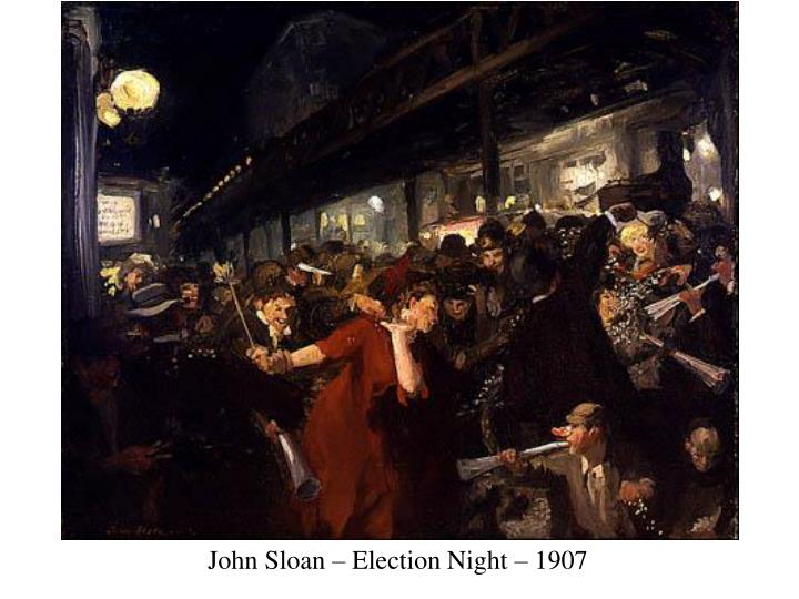 John Sloan – Election Night – 1907
