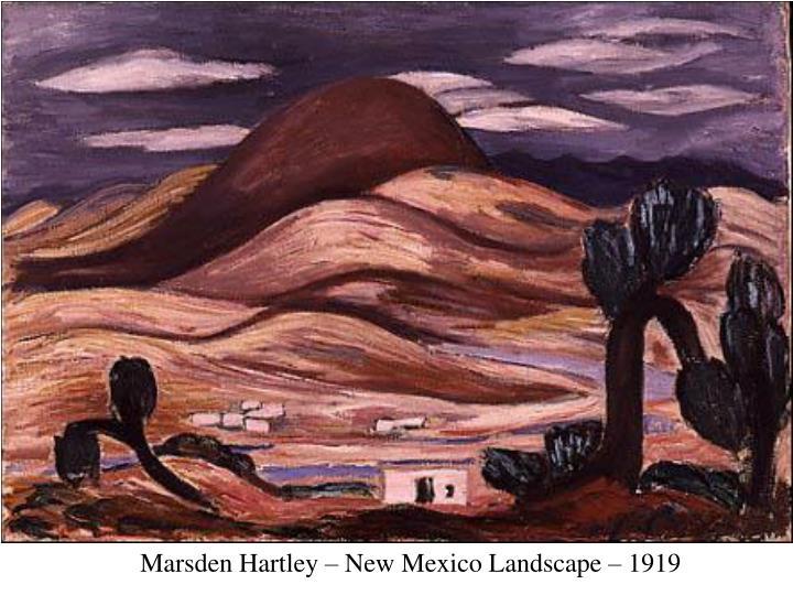 Marsden Hartley – New Mexico Landscape – 1919