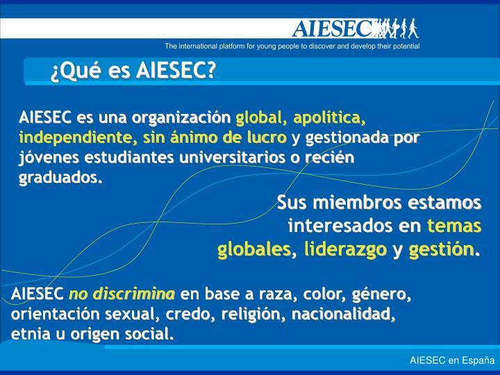 ¿Qué es AIESEC?