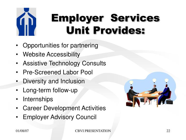 Employer  Services Unit Provides: