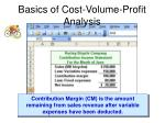 basics of cost volume profit analysis