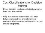 cost classifications for decision making