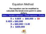 equation method4