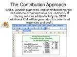 the contribution approach