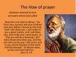 the how of prayer