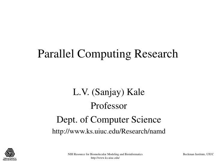 parallel computing research n.