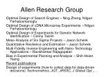 allen research group