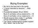 blying examples