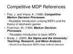 competitive mdp references