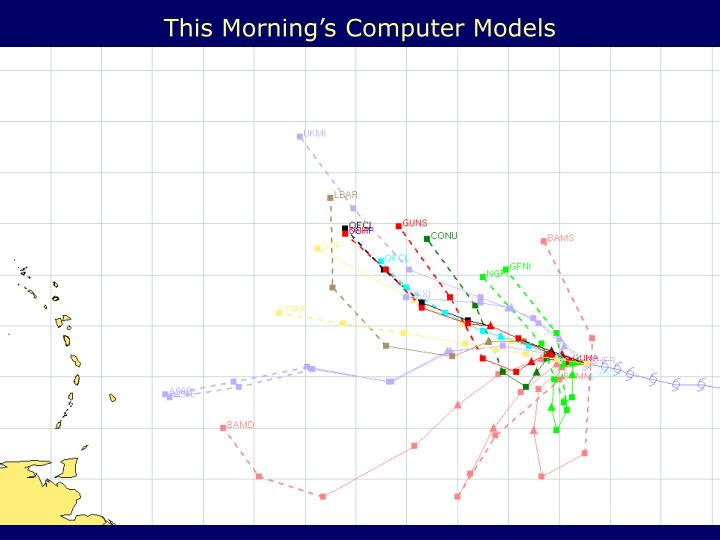 This Morning's Computer Models