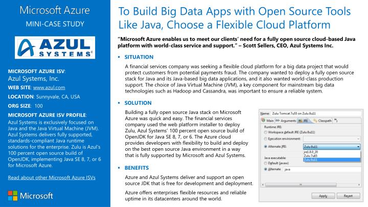 To Build Big Data Apps with Open Source Tools Like Java, Choose a Flexible