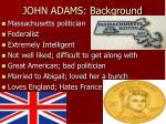 john adams background