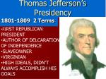 thomas jefferson s presidency