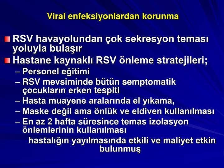 Viral enfeksiyonlardan korunma