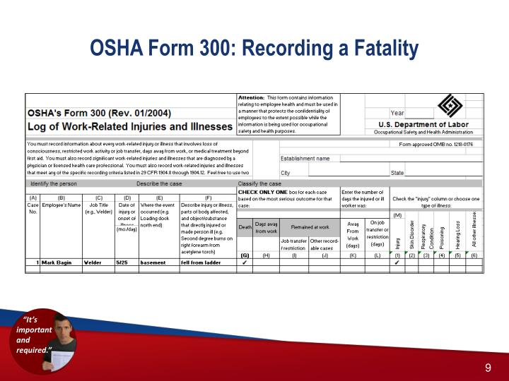 Ppt  Brief Tutorial On Completing The Osha Recordkeeping Forms
