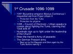 1 st crusade 1096 1099