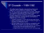 3 rd crusade 1189 1192