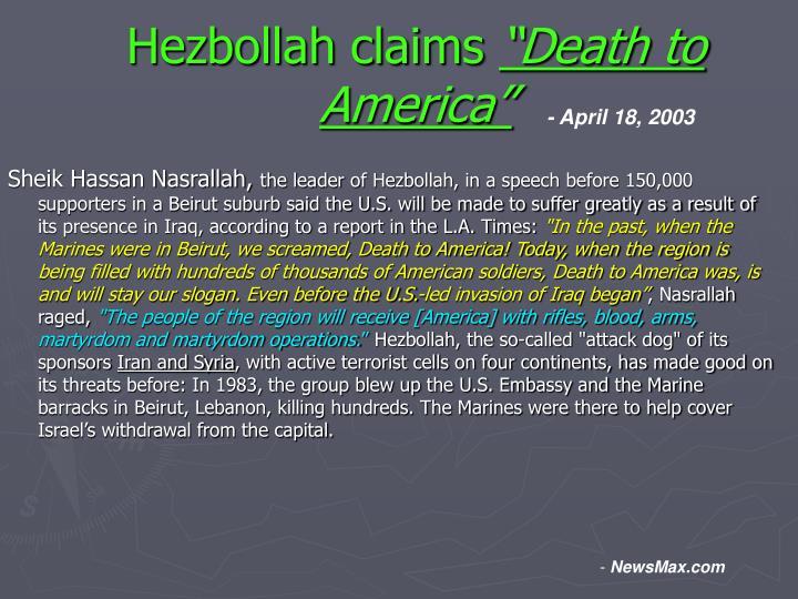 Hezbollah claims