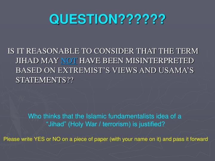 QUESTION??????