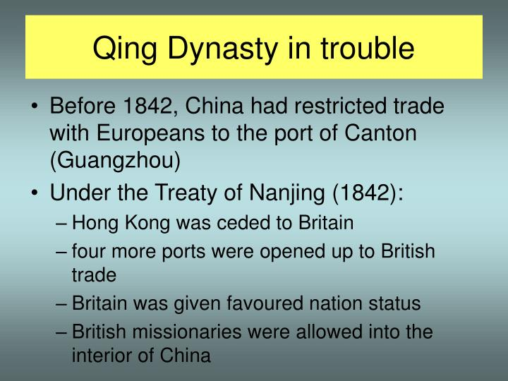 Qing Dynasty in trouble