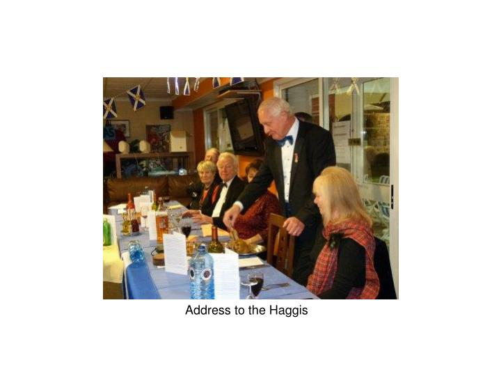Address to the Haggis