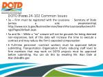 dotd form 24 102 common issues