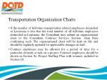 transportation organization charts