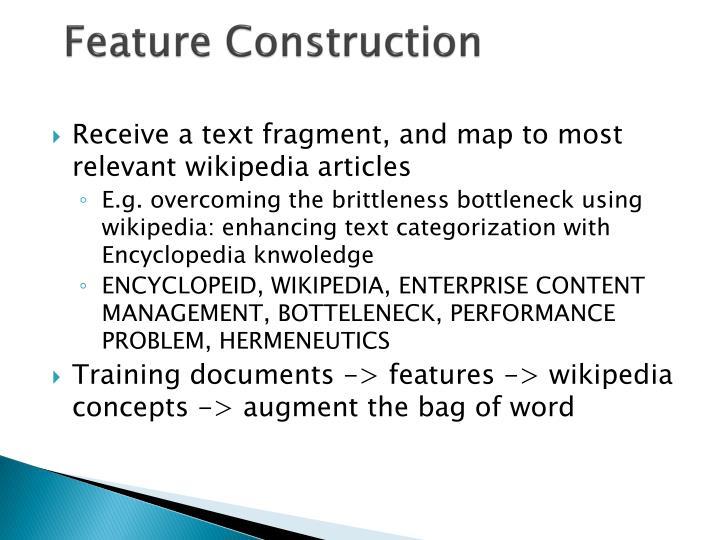 Feature Construction