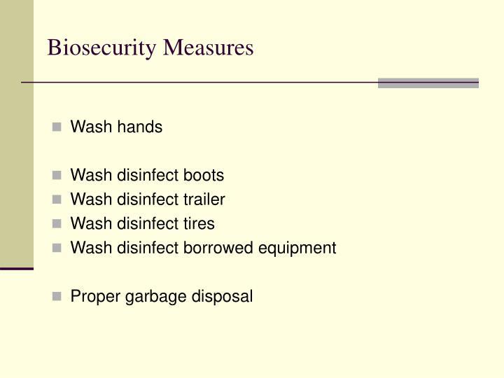 Biosecurity Measures