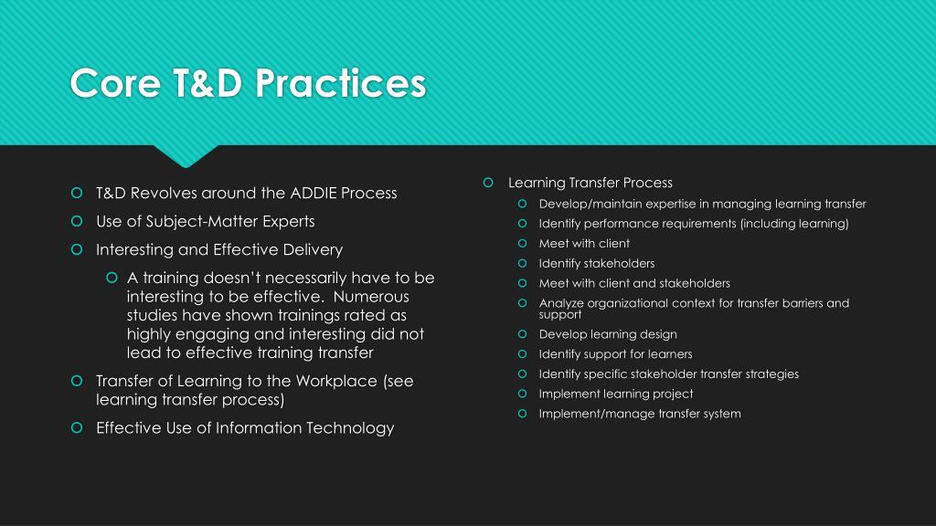 PPT - Developing Expertise through Training & Development