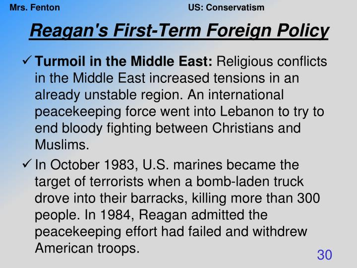 Reagan's First-Term Foreign Policy