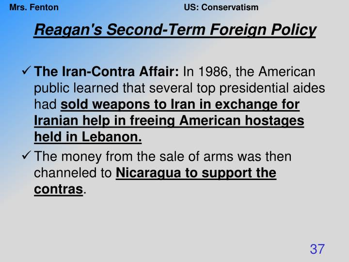 Reagan's Second-Term Foreign Policy