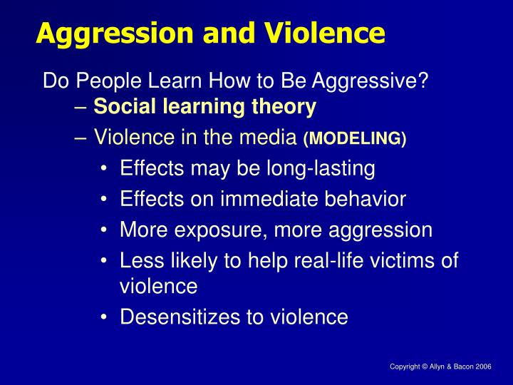 media violence and aggressive behavior Free media violence suggest that media is a variable that put children at risk of aggressive behavior does media influence violence in the behavior of.