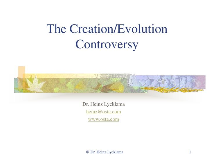 the creation evolution controversy n.