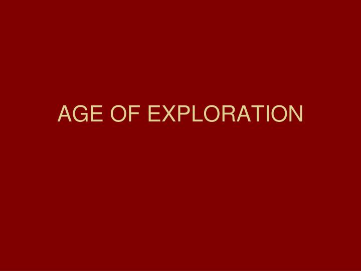age of exploration n.