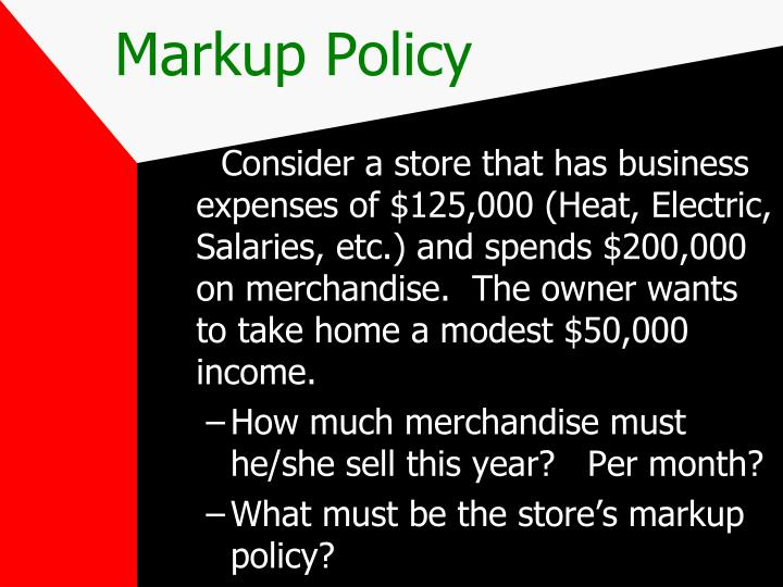 Markup Policy