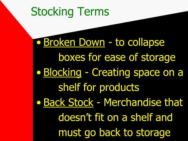 Stocking Terms