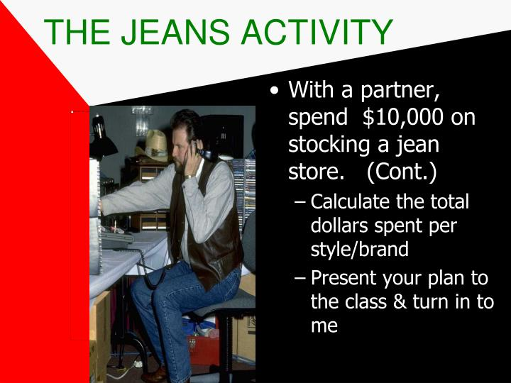 THE JEANS ACTIVITY