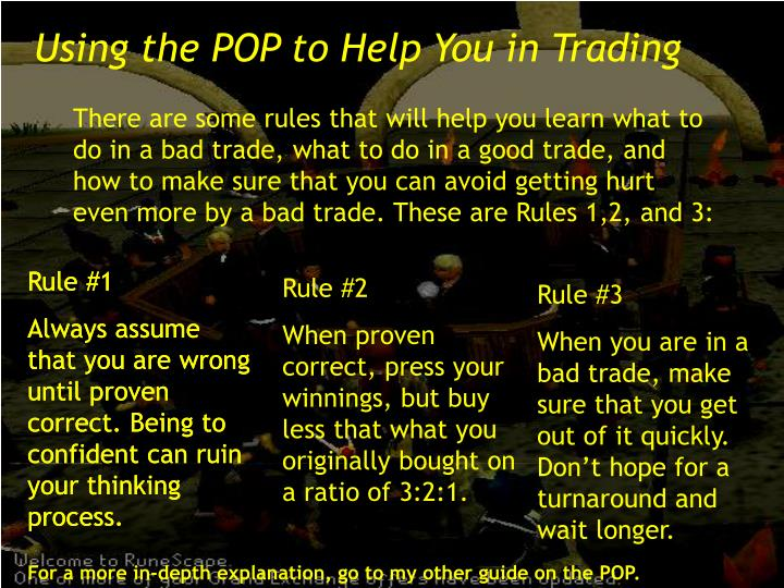 Using the POP to Help You in Trading