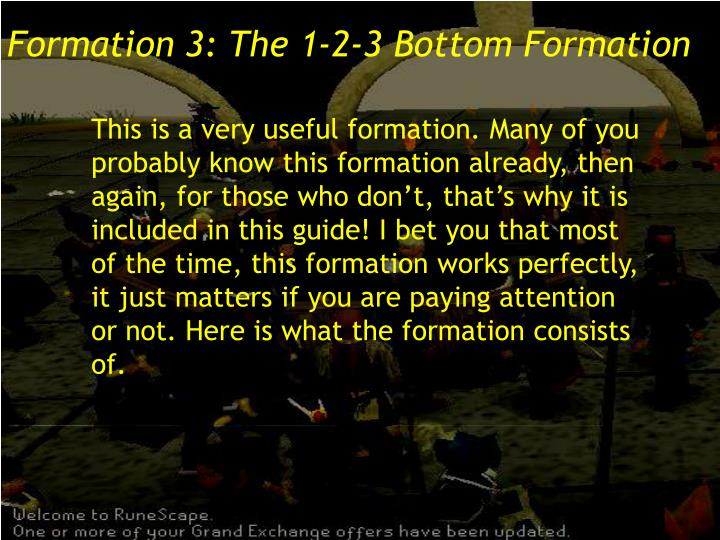 Formation 3: The 1-2-3 Bottom Formation
