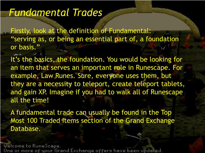 Fundamental Trades