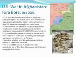 u s war in afghanistan tora bora dec 2001